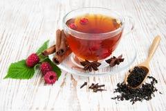 Malinowa herbata fotografia royalty free