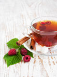 Malinowa herbata fotografia stock