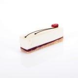malinowy cheesecake plasterek Obraz Royalty Free