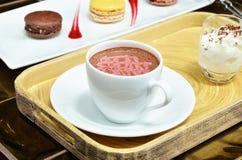 Malinowy gorący kakao obrazy stock