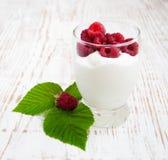 Malinowy jogurt obraz royalty free