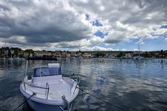Malinska是解决在克罗地亚和重要t的海岛Krk的西北部分 库存图片