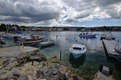 Malinska是解决在海岛Krk的西北部分在克罗地亚 免版税图库摄影