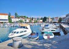 Malinska-Dubasnica, isola di Krk, mare adriatico, Croazia immagini stock