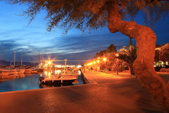 Malinska evening IV. Hot summer evening in town of Malinska, Island of Krk, Croatia Royalty Free Stock Photo