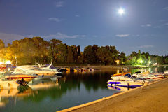 Free Malinska Harbor Evening Moonlight View Royalty Free Stock Photography - 54112757