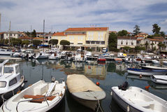 Malinska harbour on the island Krk in Croatia Stock Image