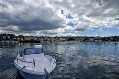 Malinska ist eine Regelung im nordwestlichen Teil der Insel Krk in Kroatien und in einem wichtigen t Stockbild