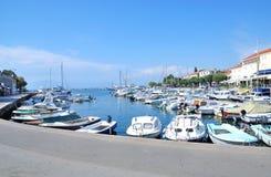 Malinska, Krk-Insel, adriatisches Meer, Kroatien Stockbilder