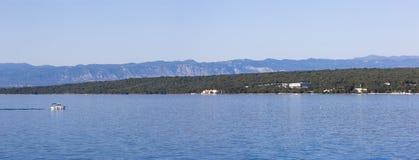 Malinska,海岛Krk,克罗地亚 免版税库存照片