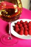 maliny wino Obraz Royalty Free