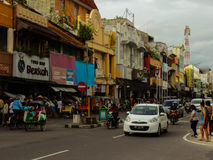 Malioboro Street. Crowded street in yogyakarta indonesia Royalty Free Stock Photo