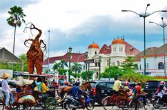 Malioboro street. Famous landmark, Yogyakarta city, Java island, Indonesia Royalty Free Stock Image