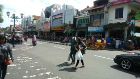 Malioboro Street. In Jogjakarta Indonesia Royalty Free Stock Images