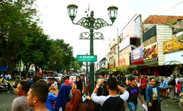 Malioboro Street. JOGJAKARTA, INDONESIA - JULY 7, 2016: Malioboro street or Jalan Malioboro. Name of the street that become a iconic of Jogjakarta city. The most Royalty Free Stock Image