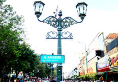 Malioboro Street. JOGJAKARTA, INDONESIA - JULY 7, 2016: Malioboro street or Jalan Malioboro. Name of the street that become a iconic of Jogjakarta city. The most Stock Photo