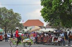 Malioboro street. Yogyakarta, Yogyakarta Special Region, Java / Indonesia - December, 2012 - Malioboro street Stock Photography