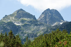 Maliovitsa peak in mount Rila. Peak Maliovitsa visibility in the Rila mountain of Bulgaria Royalty Free Stock Image