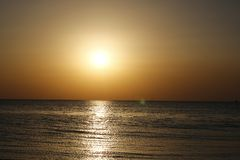 Malkiya beach sunset stock photography