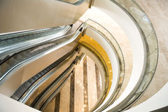 Mall. Empty shopping mall interior and escalators Royalty Free Stock Photos