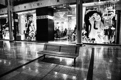 The Mall. Sherway Gardens in Toronto during extended holiday hours....empty Royalty Free Stock Photography