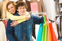In the mall Stock Images
