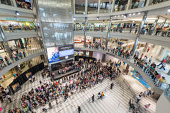 Mall of America during a busy day. MINNEAPOLIS,MN - JULY 18: Interior of Mall of America during a busy day, on July 18, 2013, in Minneapolis MN Royalty Free Stock Photography