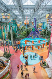 Mall of America during a busy day. MINNEAPOLIS,MN - JULY 18: Theme park of Mall of America during a busy day, on July 18, 2013, in Minneapolis MN Royalty Free Stock Photo