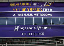 Mall of America Field Entrance. MINNEAPOLIS - OCT 17 :  The entrance to the Mall of America football stadium where the Vikings play, Taken October 17, 2013 in Stock Photography