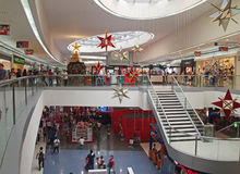Mall of asia. Interior of mall of asia in manila, philippines during christmas season in december 2013 Stock Photography