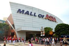 Mall of Asia. MANILA, PHILIPPINES - APRIL 20, 2015: The main gate logo of SM Mall of Asia. SM Mall of Asia is ranked the 11th largest mall in the world Stock Images