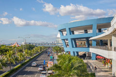 Mall of Asia in Philippines. The exterior of the Mall of Asia and Seaside Boulevard, in Pasay, Metro Manila, The Philippines Royalty Free Stock Photos