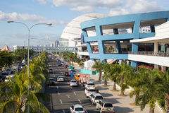 Mall of Asia in Philippines. The exterior of the Mall of Asia and Seaside Boulevard, in Pasay, Metro Manila, The Philippines Stock Photography
