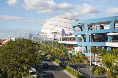 Mall of Asia in Philippines. The exterior of the Mall of Asia and Seaside Boulevard, in Pasay, Metro Manila, The Philippines Royalty Free Stock Image