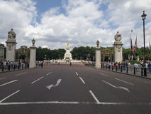 The Mall avenue and Queen Victoria Memorial, London royalty free stock image