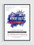 Mall, baner eller reklamblad för 4th Juli Fotografering för Bildbyråer