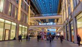 Mall of Berlin, Berlin, Germany. BERLIN, GERMANY - DECEMBER 29: Mall of Berlin on December 29, 2017. Located at Leipziger Platz offers various shopping offers Stock Images