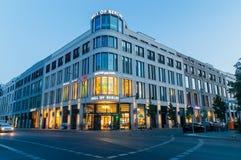 Mall of Berlin shoping center at dusk. Berlin, Germany - August 15, 2018: Mall of Berlin shoping center at dusk Stock Photo
