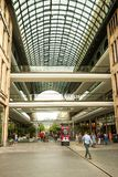 Mall of Berlin. Shopping center, a modern multi-store building made of glass. royalty free stock image