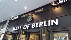 Mall of berlin royalty free stock photography