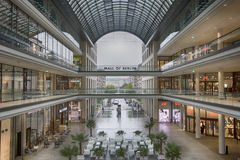 Mall of Berlin. A view of theMall of Berlin indoor structure Stock Image