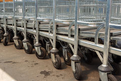 Mall carts Royalty Free Stock Photography
