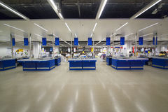 Mall cashier business scene ikea. Eastphoto, tukuchina,  Mall cashier business scene Royalty Free Stock Photo
