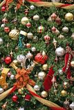 Mall Christmas Tree 2. A closeup of a large Christmas tree at shopping mall Stock Image