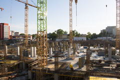 Mall construction site in Bucharest Royalty Free Stock Photos