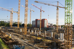 Mall construction site in Bucharest Stock Photography