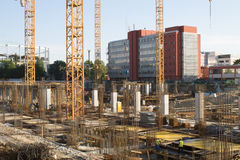 Mall construction site in Bucharest Royalty Free Stock Image