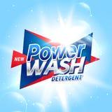 mall de för begrepp för idérik produkt för tvätteritvättmedel förpackande royaltyfri illustrationer