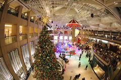 Mall decoration an event of Christmas in Hong Kong Royalty Free Stock Photography