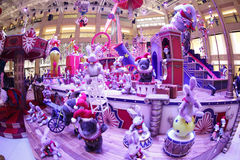 Mall decoration an event of Christmas in Hong Kong Stock Photography
